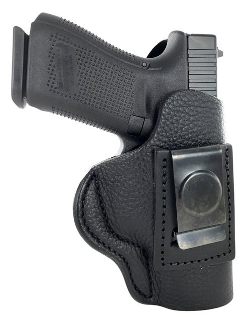 1791 Gunleather Smooth Concealment Holster, IWB, Night Sky Black Leather, Fits Glock 17/19/22/23/25/26/27/29/30/31/32/33, S&W MP40/MP9/Shield, Right Hand, Size 4 SCH-4-NSB-R