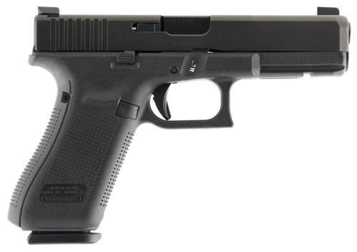 "Glock G17 Gen5 9mm. 4.48"" Barrel, AmeriGlo Night Sights, Modular Backstrap, Black, 17rd"