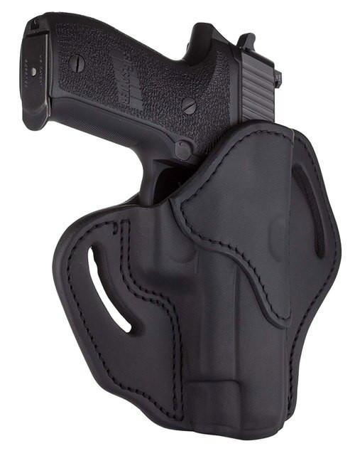 "1791 BH2.3, Belt Holster, Right Hand, Stealth Black, Leather, Fits 1911 4""& 5"" with Full Rail / Beretta 92FS / CZ 75, P01, P07, P10 / H&K VP9, VP40, P2000 / Glock 17, 20, 21, 22, 31, 34, 35, 40, 41 / Rock Island 1911 5"" TCM, TAC Ultra 5"" / Ruger P95, Amer"
