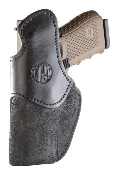 1791 RCH Rigid Concealment Holster, IWB, Black Leather, Fits H&K 45c, P2000, USPc, VP9sk / Sig P228, P229, P239, M11A1, P229c, P320, P320c / Springfield XDS, XDE, XDMc, XD45 / Taurus G2, PT111, PT24/7, 709 Slim, Right Hand, Size 5