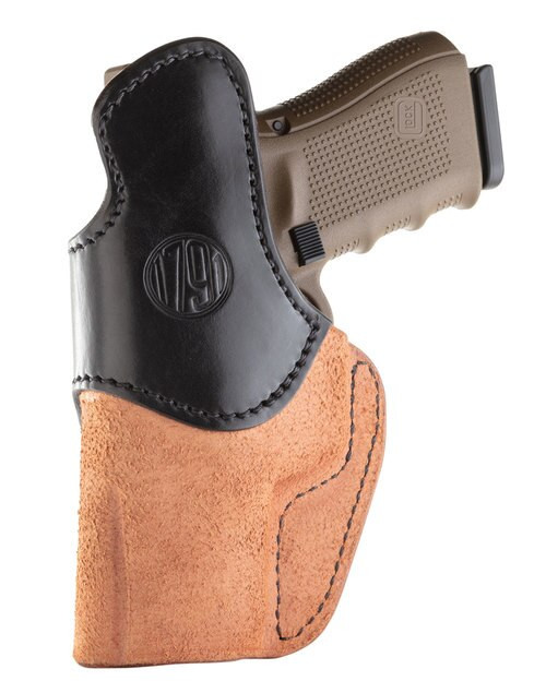 1791, RCH, Inside Waistband Holster, Size 5, Right Hand, Black/Brown, Leather