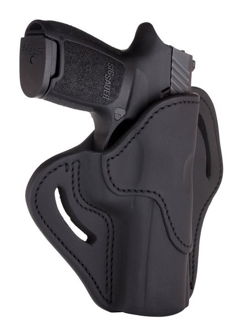 """1791 Belt Holster 2.4, Right Hand, Stealth Black Leather, Fits XDMc and Xd Mod 2 4"""""""