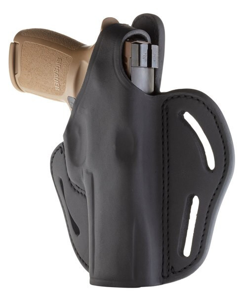 1791 Gunleather Multi-Fit Belt BHX OWB Sig P320, Springfield XDM, Walther PPQ, Black, RH