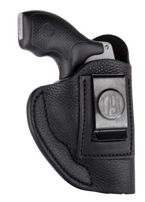 1791 Smooth Concealment Holster, Leather Inside Waistband Holster, Right Hand, Night Sky Black, Fits LCR & S&W 38 Special, Size 2