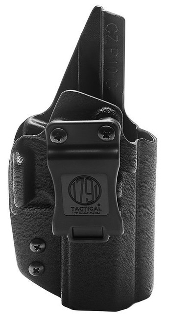 1791 Tactical Kydex, Inside Waistband Holster, Right Hand, Black Kydex, Fits CZ P10