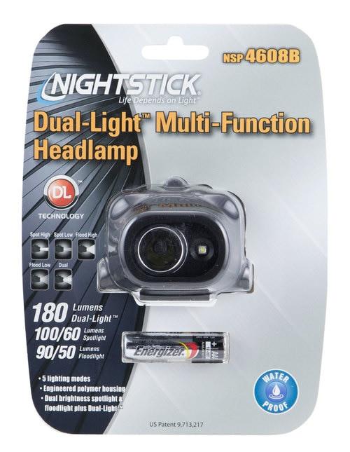 Bayco Nightstick Headlamp Dual Light 180L