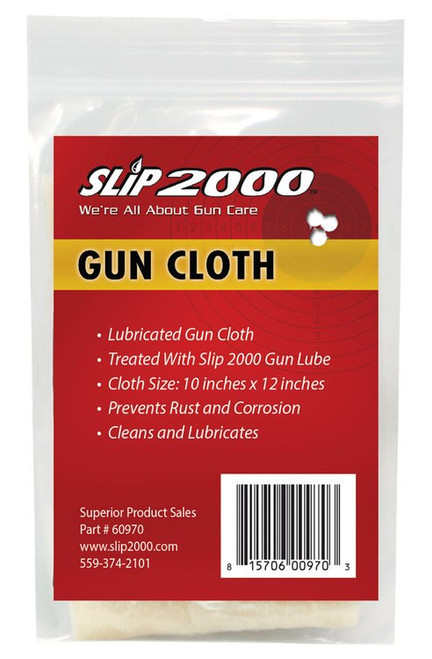 "Slip 2000 Gun Cleaning Cloth 10"" x 12"""