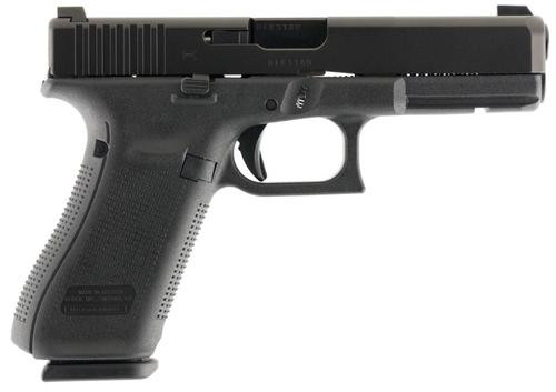 "Glock G17 Gen5 9mm, 4.48"" Barrel, Glock Nightsights, Modular Backstrap, Black, 10rd"
