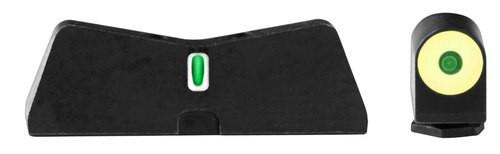 XS Sight DXT II Big Dot Glock 20/21/29/30/30S/37/41 Gen1-5 Green Tritium Yellow Outline Front Green Tritium White Outline Rear Black