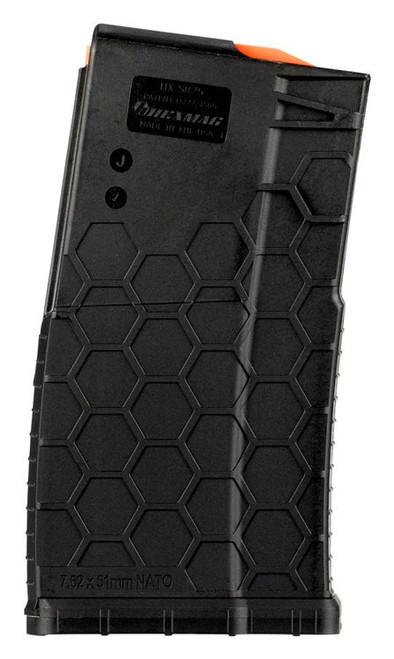 Hexmag SR-25 AR-10 Magazine 7.62x51mm, Composite Black, 10rd