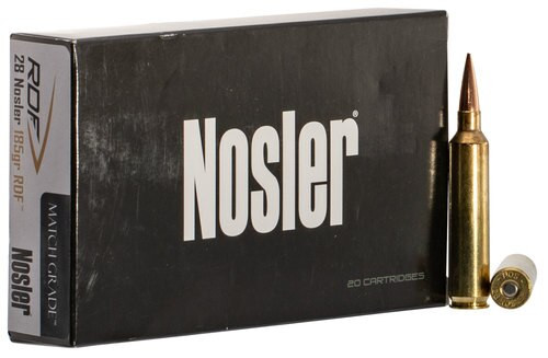 Nosler Match Grade RDF 28 Nosler 185gr, Hollow Point Boat Tail, 20rd Box