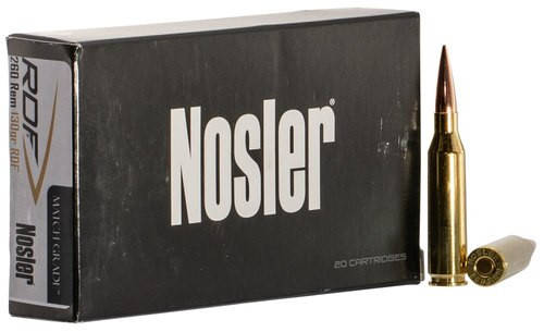 Nosler Match Grade RDF 260 Remington 130gr, Hollow Point Boat Tail, 20rd Box
