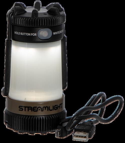 Streamlight Siege X USB Lantern 325/300 Lumens Polymer Coyote CR18650 (1)/CR123A (2) Battery