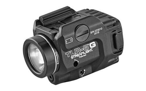 Streamlight TLR-8G White LED 500 Lumens 3V CR123A Lithium Battery Black Polymer