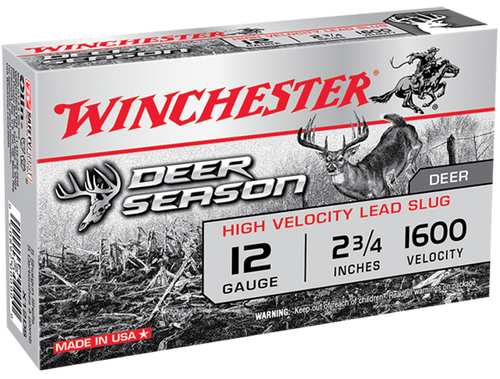 "Winchester Deer Season High Velocity 12 Ga, 2.75"", 1 1/4oz, 5rd/Box"