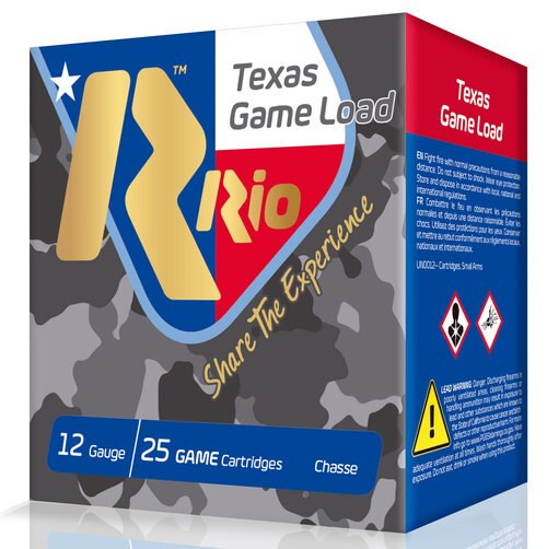 "Rio Top Game 12 Ga, 2.75"" 1 1/4oz, 6 Shot, 25rd Box"