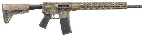 "Ruger AR556 AR-15 5.56/223 18"" Barrel Frazzled Camo Brown Cerakote 30rd Mag"