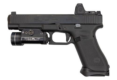 "Glock G34 Gen5 MOS 9mm, Used, 5.3"" Barrel, Suppressor Sights, Front Serrations, 17rd"