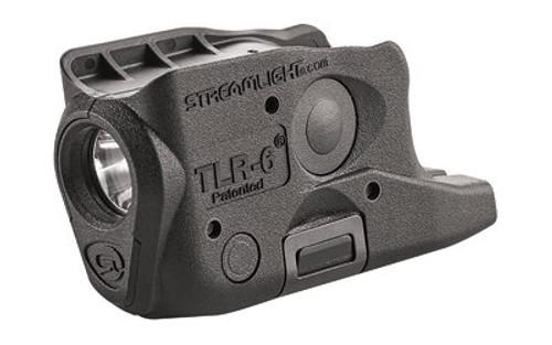 Streamlight TLR-6 Weapon Light fits Glock 26/27/33 White LED 100 Lumens 1/3N Lithium Battery Black Polymer No Laser