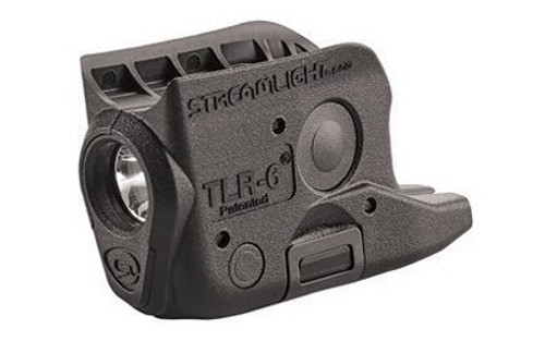 Streamlight TLR-6 Weapon Light fits Glock 42/43 White LED 100 Lumens 1/3N Lithium Battery Black Polymer No Laser