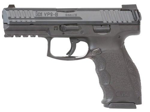 "HK VP9-B 9mm, 4.09"" Barrel, Black, 10rd"