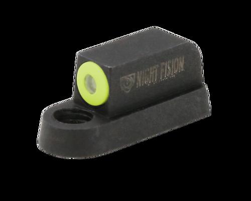 Night Fision Night Sight Front Square CZ P-07/P-09/P-10 Green Tritium Orange Outline Front Black, YGXX