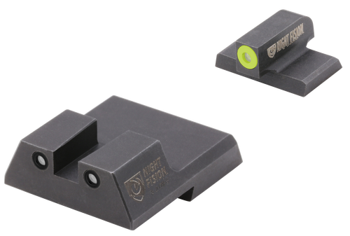 Night Fision Night Sight Set Square HK VP9/VP40/P30/P30SK/P30L/45/45 Tactical Green Tritium Yellow Outline Front Green Black Outline Rear Black