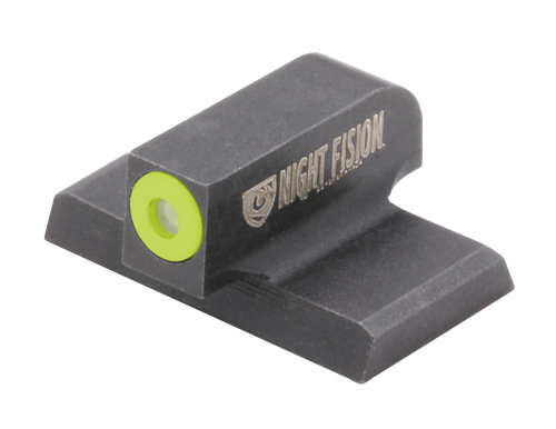 Night Fision Night Sight Front Square Top HK VP9/VP40/P30/P30SK/P30L/45/45 Tactical Green Tritium Yellow Outline Front Black