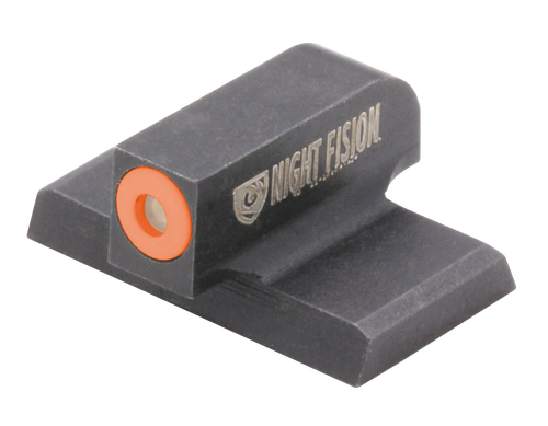 Night Fision Night Sight Front Square Top HK VP9/VP40/P30/P30SK/P30L/45/45 Tactical Green Tritium Orange Outline Front Black