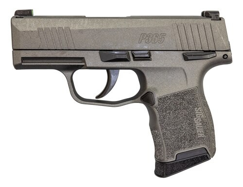 "Sig P365 9mm, 3"" Barrel, XRay3 Night Sights, Manual Safety, Tungsten Gray, 10rd"