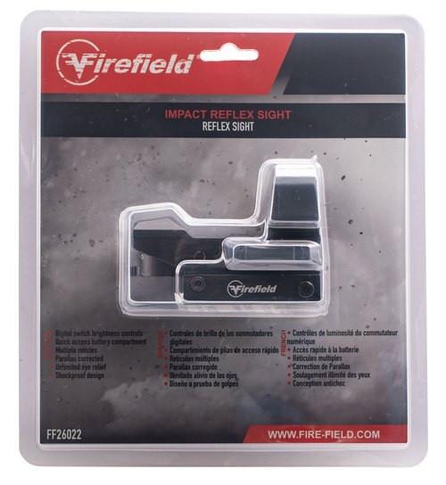Firefield Impact Reflex Sight 1x 33x23mm Obj Multi-Reticle Black Matte CR2032 (1)