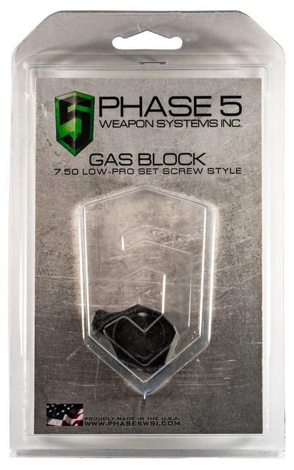 "Phase 5 Lo Pro Gas Block Screw Style 0.750"" Barrel Black"