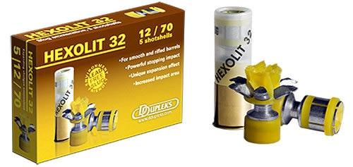 "DDupleks Broadhead Hexolit 32 12 Ga, 2.75"" Slug, 1-1/8oz, 5rd Box"