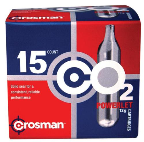 Crosman Air Guns Copperhead CO2 12 Gram, 15 Cylinders/Pack