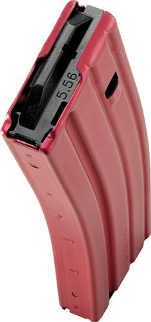 CPD AR-15 Magazine, 223Rem/5.56NATO, 30Rd, Red, Aluminum, Black Anti-Tilt AGF Follower