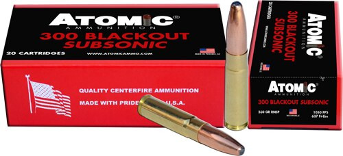 Atomic 300 Blackout Subsonic 260gr, RNSP, 20rd Box