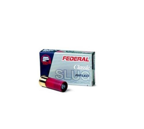 "Federal Power-Shok Rifled Slug 12 Ga, 2.75"", 1 oz, 5rd/Box"