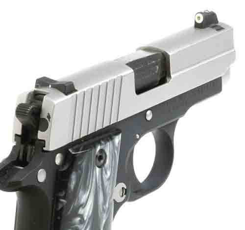 XS DXW Big Dot - Sig P238 Tritium Front, White Stripe Rear, Fitted Rear