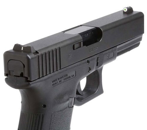 XS DXW Big Dot - Glock 20,21,29,30,30S,37,41 Tritium Front, White Stripe Rear