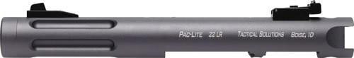 "Tactical Solutions Pac-Lite Ruger Mark I,II,III, 4.5"" Fluted Gun Metal Gray Barrel 22 Long Rifle"