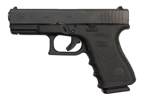 "Glock 19 Gen3 USA Made 9mm, 4"" Barrel, Black, 2 x 15rd Mag"