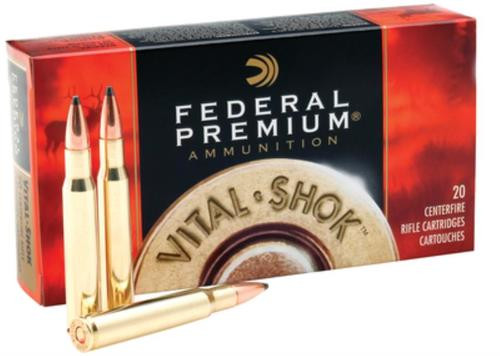 Federal Premium 338 Rem Ultra Mag Nosler Partition 210gr, 20rd Box