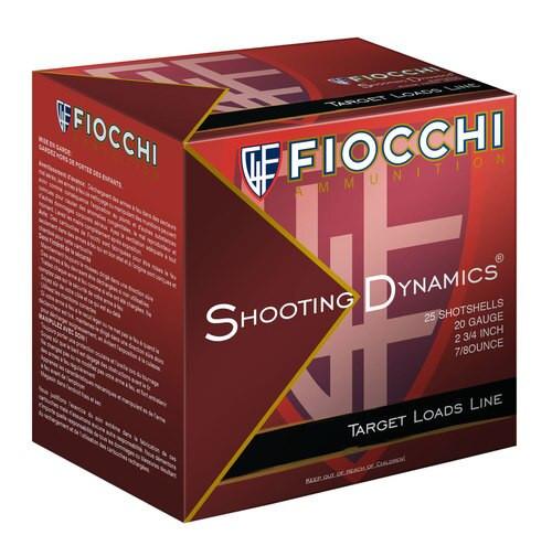"""Fiocchi Target Shotshell 20 Ga, 2.75"""", 7/8oz, 9 Shot, 25rd Box"""