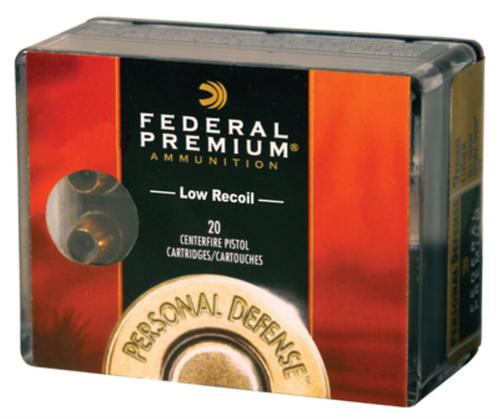 Federal Personal Defense Low Recoil .357 Magnum 130gr, Hydra-Shok Jacketed Hollow Point 20rd Box