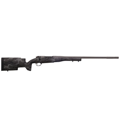 "Weatherby Mark V Accumark Pro 300 Weatherby Mag, 26"", Tungsten Gray Cerakote Fixed Carbon Fiber, RH, 3rd"