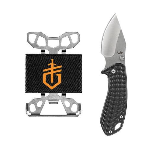 Gerber Kettlebell Clip Folding Knife W/Barbill Wallet Tool Combo Set