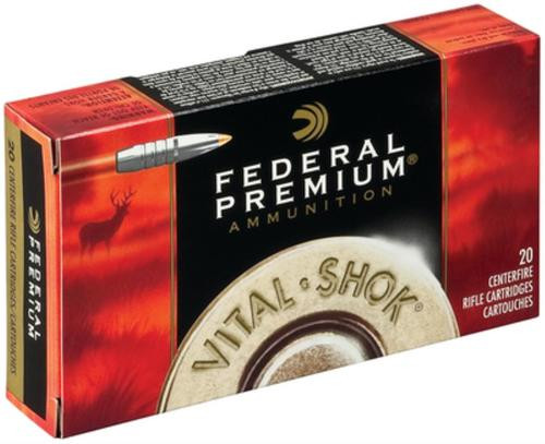 Federal Vital-Shok .270 Winchester 130gr, Trophy Bonded Tip Nickel Plated Case 20rd Box