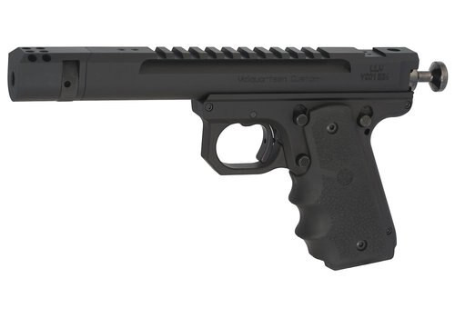 "Volquartsen Scorpion Open Model .22 LR, 4.5"" Barrel, 1911 Style Frame, Compensator, Hogue Grips, Black"
