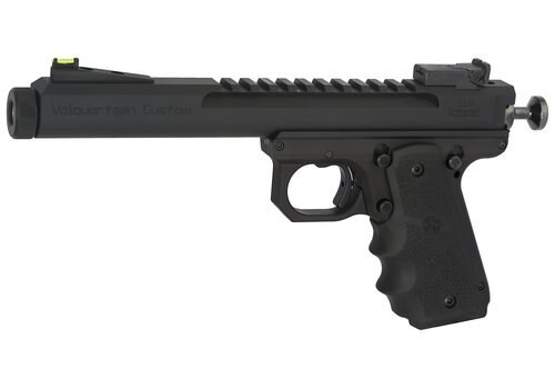 "Volquartsen Scorpion Limited Model .22 LR, 6"" Barrel, 1911 Style Frame, Hi-Viz Front With Target Rear, Hogue Grips, Black"