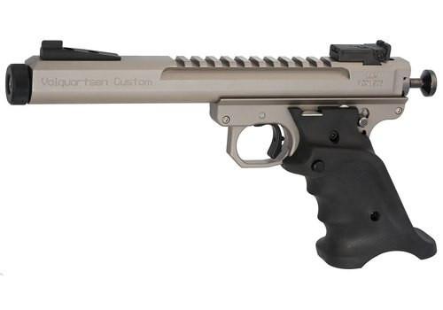 """Volquartsen Scorpion .22 LR, 6"""" Barrel, Target 22 Style Frame, Volthane Grips, Target Sights, Silver"""
